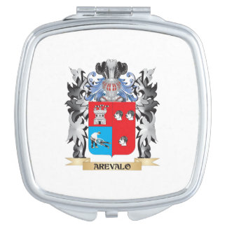 Arevalo Coat of Arms - Family Crest Travel Mirror