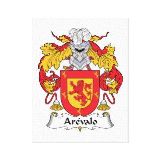Arevalo Family Crest Canvas Print