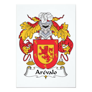 Arevalo Family Crest Card