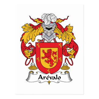 Arevalo Family Crest Postcard