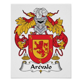 Arevalo Family Crest Poster