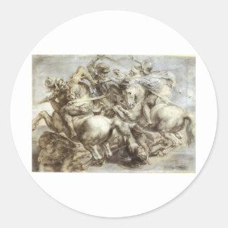 Arezzo anghiari Battle Classic Round Sticker