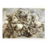 Arezzo anghiari Battle Postcard