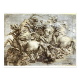Arezzo anghiari Battle Post Card