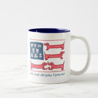 Arfs & Stripes Forever 2-Tone Mug (Blue/White)