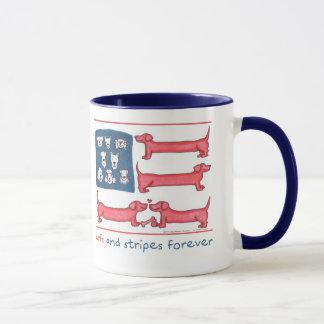 Arfs & Stripes Forever Navy Blue Ringer Mug