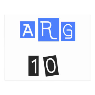 ARG 10! Cool sports design! Postcard
