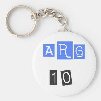 ¡ARG 10! ¡Diseño fresco de los deportes! Llavero Redondo Tipo Pin