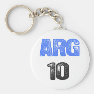 ¡ARG 10! LLAVERO REDONDO TIPO PIN
