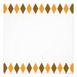 [ARG-BRO-1] Brown y argyle retro anaranjado Anuncio