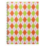 [ARG-GR-OR-1] Argyle verde y anaranjado Libro De Apuntes