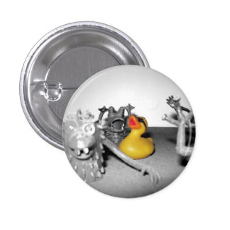 'Arg! Monsters!' Rubber Duck  Button (small)