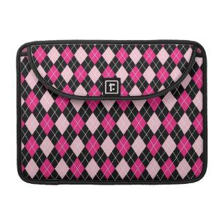 [ARG-PINK-1] Pink and black argyle MacBook Pro Sleeve