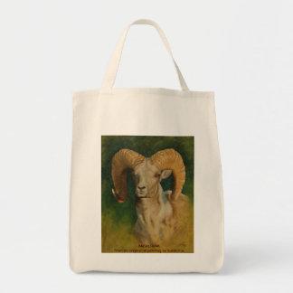 Argali Ram Grocery Tote Bag