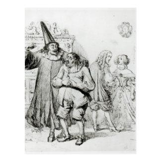 Argan y Monsieur Purgon Tarjetas Postales