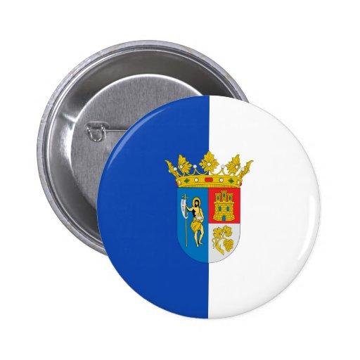 Arganda Del Rey, bandera de España Pin Redondo 5 Cm
