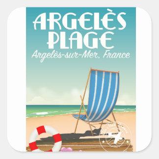 Argelès Plage,Argelès-sur-Mer, France Square Sticker