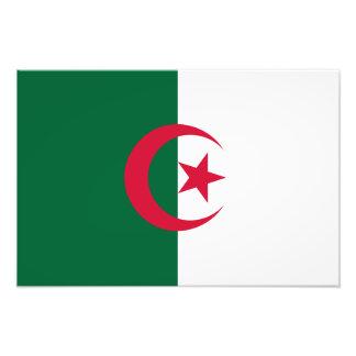 Argelia - bandera argelina arte con fotos