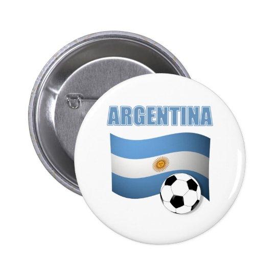 Argenitna world cup t-shirt button