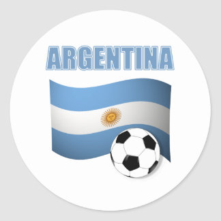 Argenitna world cup t-shirt classic round sticker