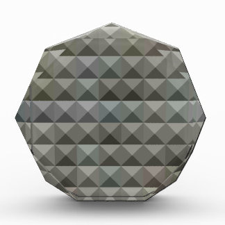 Argent Grey Abstract Low Polygon Background Acrylic Award