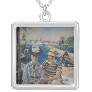 Argenteuil, 1874 square pendant necklace