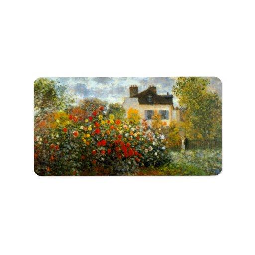 Argenteuil by Claude Monet Custom Address Labels