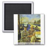 Argenteuil By Manet Edouard Refrigerator Magnets