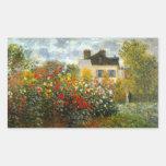 Argenteuil de Claude Monet Rectangular Pegatina