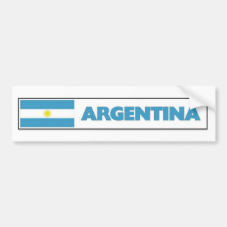 Argentia Flag Car Bumper Sticker