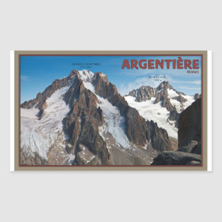 Argentiere - View from Grands Montets Rectangular Sticker