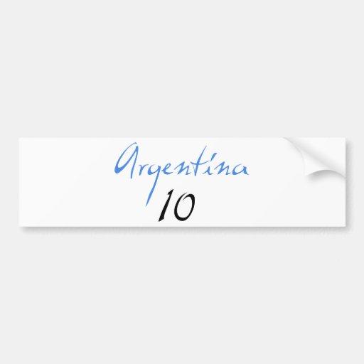 Argentina 10! bumper sticker