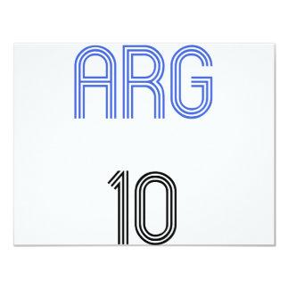 Argentina 10 design! 4.25x5.5 paper invitation card