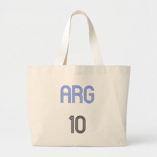 Argentina 10 design! large tote bag