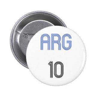 Argentina 10 design! pinback button