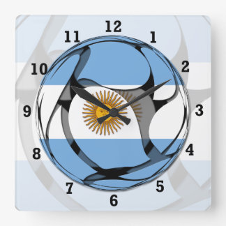 Argentina #1 square wall clock