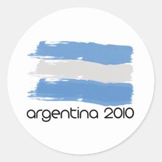 Argentina 2010 classic round sticker