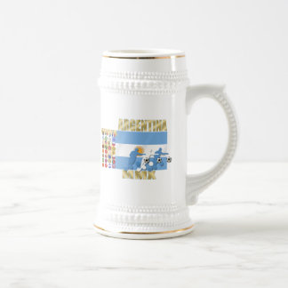 Argentina 32 qualifying countries Futbol ball gift Beer Stein
