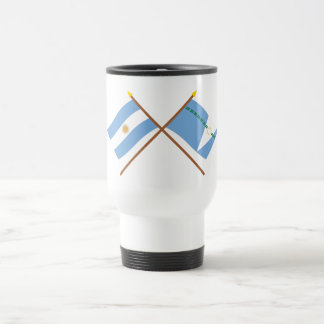 Argentina and Formosa Crossed Flags 15 Oz Stainless Steel Travel Mug