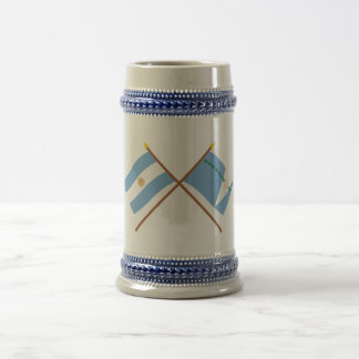 Argentina and Formosa Crossed Flags 18 Oz Beer Stein