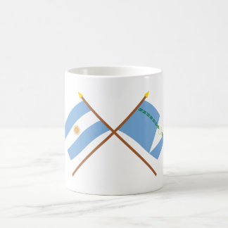 Argentina and Formosa Crossed Flags Classic White Coffee Mug