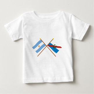 Argentina and La Rioja Crossed Flags Tee Shirts
