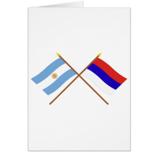 Argentina and Misiones Crossed Flags Greeting Card