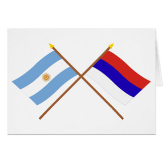 Argentina and Misiones Crossed Flags Cards