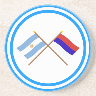 Argentina and Misiones Crossed Flags Drink Coaster