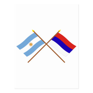 Argentina and Misiones Crossed Flags Post Cards