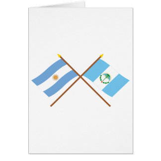 Argentina and Neuquén Crossed Flags Card