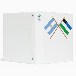 Argentina and Río Negro Crossed Flags Vinyl Binders