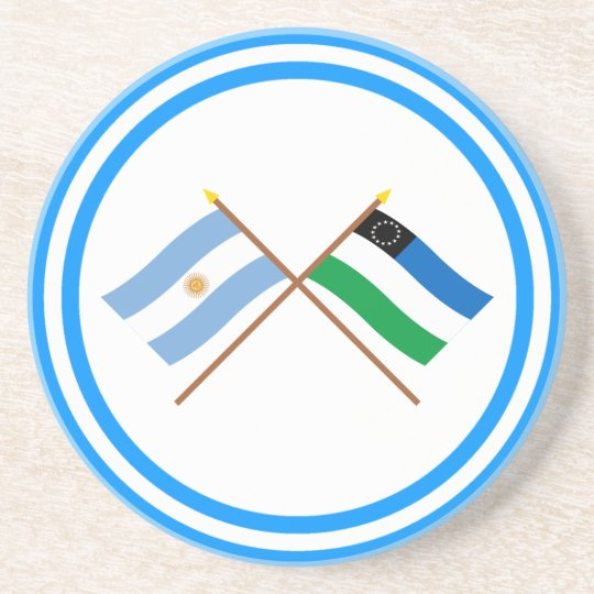 Argentina and Río Negro Crossed Flags Coaster