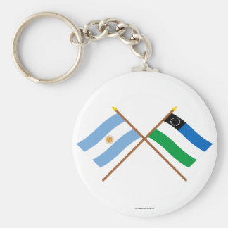 Argentina and Río Negro Crossed Flags Keychain